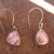 Rhodochrosite and Sterling Silver Earrings